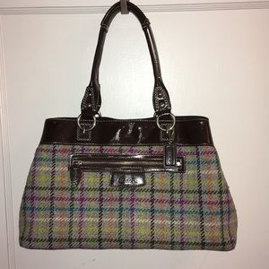 Coach Wool Satchel Bag